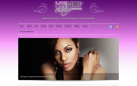 Screenshot of Signup Page hiphopsisters.org - Join Us | Hip Hop Sisters Network - captured Oct. 2, 2014