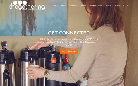 Screenshot of Home Page gatheringnow.org - Home - The Gathering - captured Feb. 15, 2016