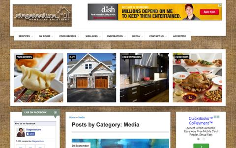 Screenshot of Press Page stagetecture.com - Media Archives - - captured Sept. 23, 2014