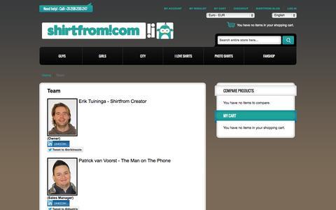 Screenshot of Team Page shirtfrom.com - Team - captured Oct. 9, 2014