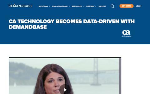 Screenshot of Case Studies Page demandbase.com - CA Technologies Provides Targeted, Personalized Marketing with Demandbase | Account-Based Marketing – Demandbase - captured Nov. 6, 2019