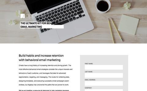 Screenshot of Landing Page appboy.com - Behavioral Email Marketing Kit | Appboy - captured July 4, 2017
