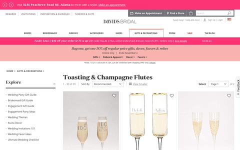Toasting Flutes and Champagne Flutes | David's Bridal