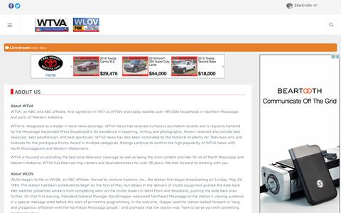 Screenshot of About Page wtva.com - About Us - Tupelo, Columbus, Oxford, Starkville News, Weather & Sports – WTVA - captured Nov. 14, 2017