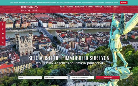Screenshot of Home Page agence-primmo.com - Immobilier Lyon | Primmo Immobilier - captured Oct. 7, 2017