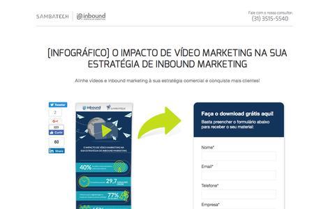 Screenshot of Landing Page sambatech.com - [Infográfico] O IMPACTO DE VÍDEO MARKETING NA SUA ESTRATÉGIA DE INBOUND MARKETING - captured Aug. 19, 2016