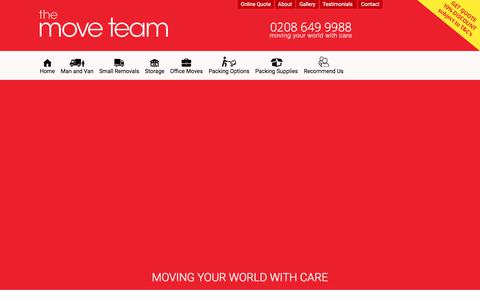 Screenshot of Privacy Page themoveteam.co.uk - Privacy Policy - The Move Team - captured Sept. 21, 2018