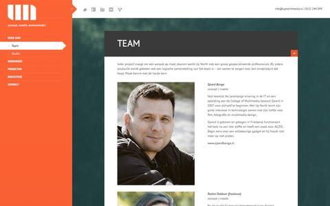 Screenshot of Team Page upnorthmedia.nl - Team Up North - een groep professionals voor visuele communicatie - captured Oct. 7, 2014