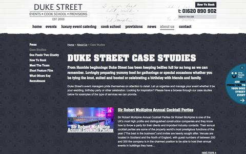 Screenshot of Case Studies Page dukestreetgroup.com - Duke Street Events Case Studies and previous events - captured Feb. 2, 2016