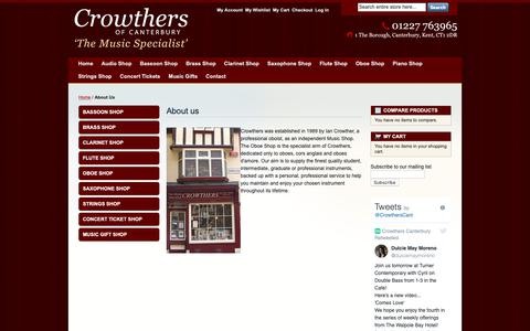 Screenshot of About Page crowthersofcanterbury.co.uk - About Us - captured Nov. 5, 2018