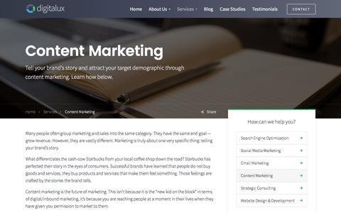Content Marketing | Digitalux