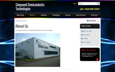 Screenshot of About Page compoundsemi.co.uk - Compound Semiconductor Technologies   About Columbus - captured Sept. 17, 2014