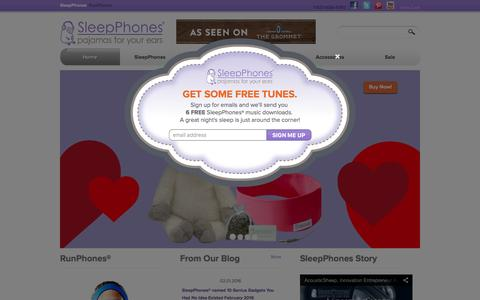 Screenshot of Home Page sleepphones.com - Sleep Headband Headphones | Comfortable Headphones | Natural Sleep Aid | SleepPhones - captured Feb. 5, 2016
