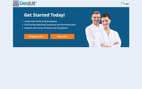 Screenshot of Signup Page dentuit.com - Free Sign Up - Join DentUit Today! | DentUit - captured Jan. 7, 2016