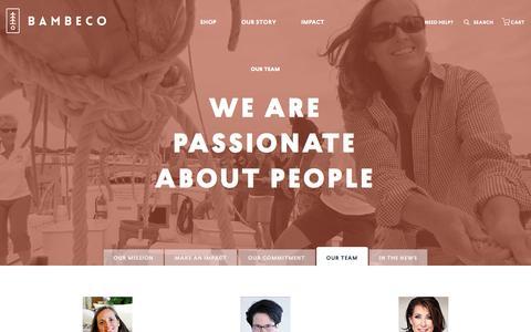Screenshot of Team Page bambeco.com - bambeco Management Team - captured Dec. 4, 2015