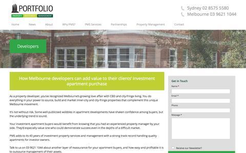 Screenshot of Developers Page portfolioms.com.au - Property Investment & Property Developers - Portfolio MS - captured Jan. 30, 2016