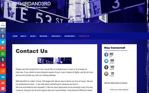 Screenshot of Contact Page 50thirdand3rd.com - Contact Us - captured June 16, 2016