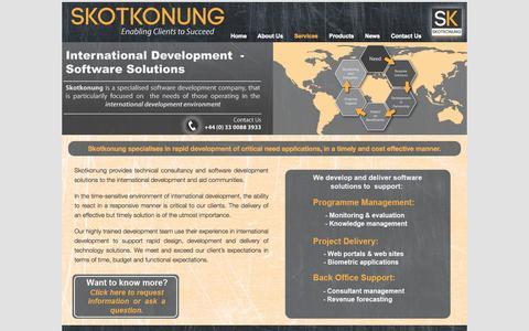 Screenshot of Services Page skotkonung.com - Services | Skotkonung - captured Oct. 26, 2014