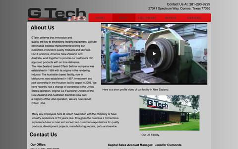 Screenshot of About Page gtechus.com - About Us - captured July 14, 2017