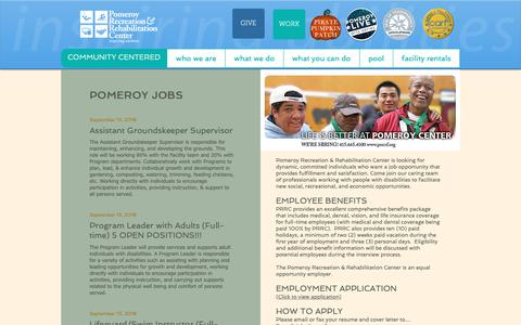 Screenshot of Jobs Page prrcsf.org - Pomeroy Center & Pool | San Francisco | People With Disabilities | careers - captured Sept. 28, 2018