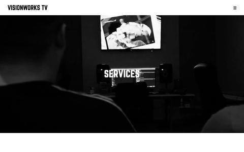 Screenshot of Services Page visionworks.co.uk - Services - Visionworks Television - captured Oct. 20, 2018