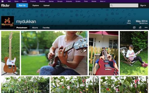 Screenshot of Flickr Page flickr.com - Flickr: mydukkan's Photostream - captured Nov. 2, 2014