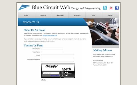 Screenshot of Contact Page bluecircuitweb.com - Blue Circuit Web | Design and Programming - captured Oct. 5, 2014