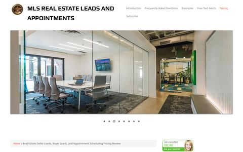 Screenshot of Pricing Page realestateleads.marketing - Real Estate Seller Leads, Buyer Leads, and Appointment Scheduling Pricing Review | MLS Real Estate Leads and Appointments - captured July 10, 2018