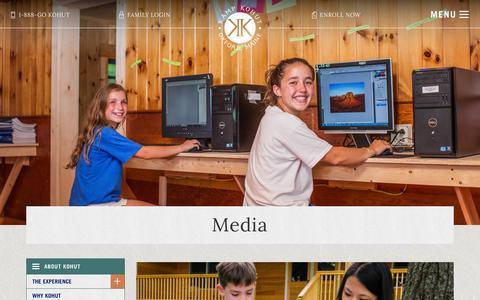 Screenshot of Press Page kampkohut.com - Media - Kamp Kohut - captured Aug. 8, 2016