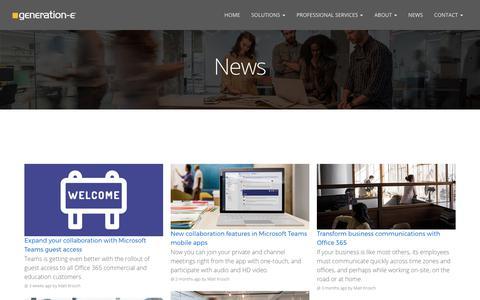 Screenshot of Press Page generation-e.com.au - News - Generation-e - captured Oct. 11, 2017