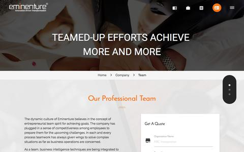 Screenshot of Team Page eminenture.com - Eminenture - Our Eminent Team - captured July 18, 2018
