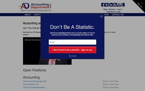 Screenshot of Jobs Page accountingdepartment.com - Virtual Accounting and Bookkeeping Careers at AccountingDepartment.com - captured March 30, 2017