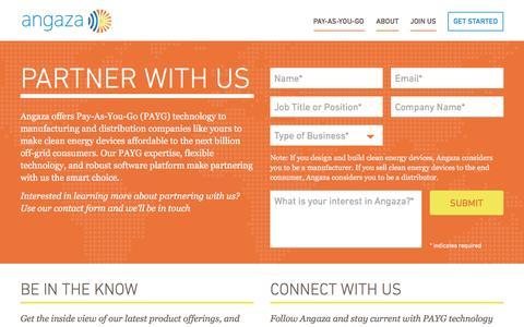 Screenshot of Contact Page Jobs Page angazadesign.com - Angaza � Contact - captured Dec. 25, 2015