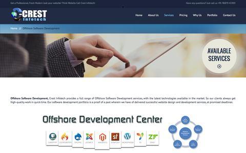 Screenshot of Services Page crestinfotech.com - Offshore Software Development | offshore app development company - captured July 17, 2016