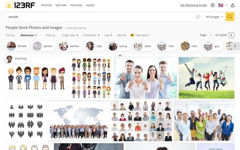Screenshot of Team Page 123rf.com - People Stock Photos And Images - 123RF - captured Feb. 4, 2019