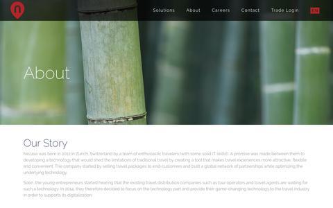 Screenshot of About Page nezasa.com - About - Nezasa - captured June 1, 2018