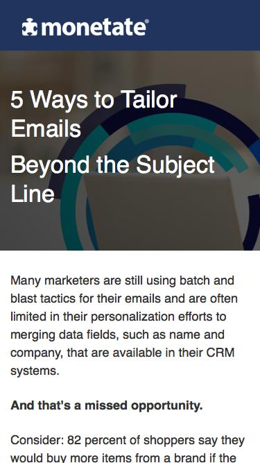 5 Ways to Tailor Emails Beyond the Subject Line | Whitepaper from Monetate