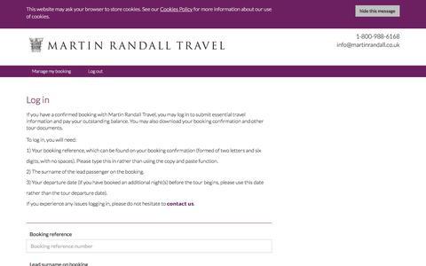 Screenshot of Login Page martinrandall.com captured Nov. 22, 2016