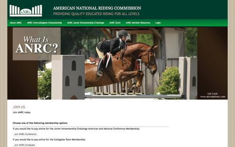 Screenshot of Signup Page anrc.org - Join Us - ANRC - captured April 28, 2017