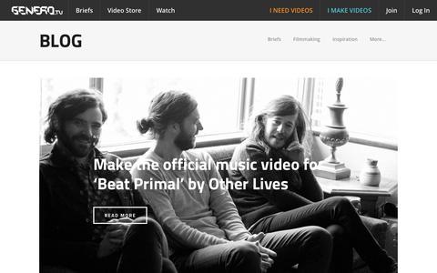 Screenshot of Blog genero.tv - Genero Blog | News, videos, interviews - captured July 15, 2015