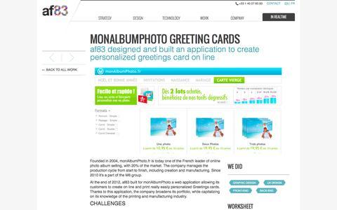Screenshot of Maps & Directions Page af83.com - af83 - Work - monAlbumPhoto Greeting Cards - captured Nov. 23, 2015