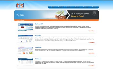 Screenshot of Products Page itisl.com - ITISL - Software Product Showcase - Beehive, Hub CRM and Power Shell - captured Nov. 25, 2016