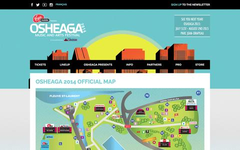 Screenshot of Maps & Directions Page osheaga.com - Osheaga 2014 Official Map - Osheaga Osheaga - captured Nov. 3, 2014