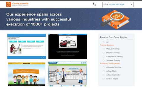 Screenshot of Case Studies Page commlabindia.com - Case Studies | E-learning | Technology Enabled Solutions-CommLab India - captured May 20, 2017