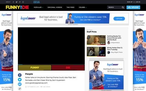 Screenshot of Team Page funnyordie.com - ▶ People from goodcopgreatcop and Staff Picks - captured Feb. 24, 2018