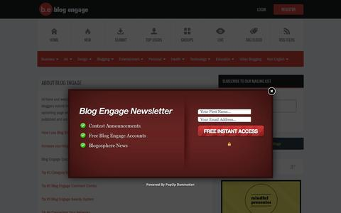 Screenshot of About Page blogengage.com - About Blog Engage | Blog Engage Blog Traffic - captured Oct. 1, 2015