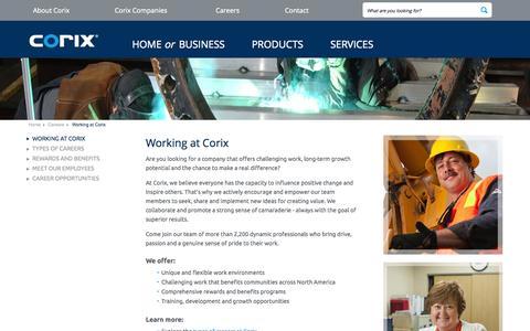 Screenshot of Jobs Page corix.com - Working at Corix Group of Companies - captured Sept. 24, 2014