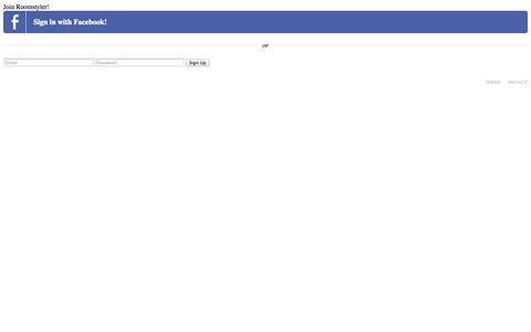 Screenshot of Signup Page roomstyler.com captured Sept. 23, 2014