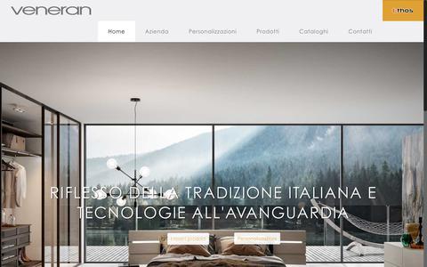 Screenshot of Home Page veneran.com - Home - Veneran Mobili - captured Oct. 18, 2018