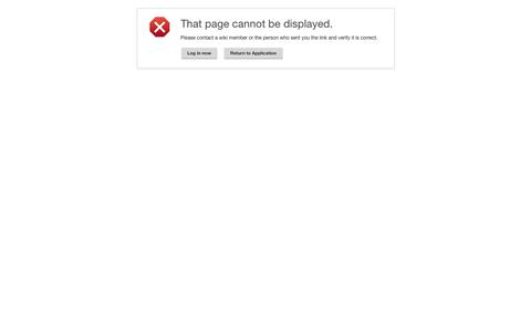 Error - Cannot display page